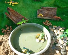 Elements for creating play scenes & invitations to play Summer Preschool Activities, Sensory Activities, Sensory Bins, Time Activities, Play Based Learning, Learning Through Play, Outdoor Play Spaces, Small World Play, Outdoor Learning