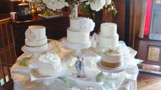 Wedding Cakes at Green Acres, An Enchanting Event Center in a Historic Barn