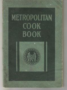 Vintage Metropolitan Cook Book  1922 by ShopHereVintage on Etsy