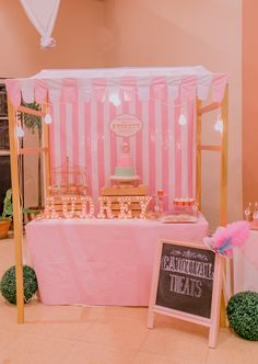 Audrey's Pink Vintage Carnival Themed Party – Cake Stand
