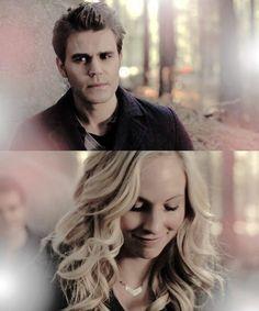#TVD The Vampire Diaries  Stefan & Caroline