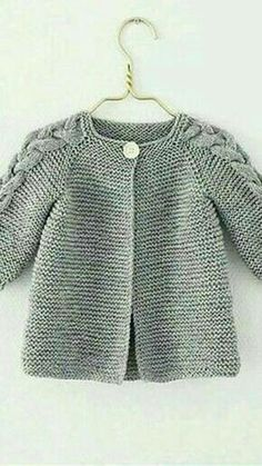 Ideas Crochet Cardigan Pattern Girls Baby Sweaters For 2019 Baby Cardigan Knitting Pattern, Knitted Baby Cardigan, Knit Baby Sweaters, Crochet Jacket, Baby Knitting Patterns, Baby Patterns, Sweater Coats, Baby Poncho, Blanket Patterns