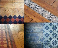 SentiMenti's world: stare płytki + stare drewno Foyer Flooring, Wooden Flooring, Kitchen Flooring, Hardwood Floors, Transition Flooring, Farmhouse Architecture, Floor Patterns, Farmhouse Design, Wood Colors