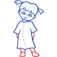 how to draw boo, boo, monsters inc step 6