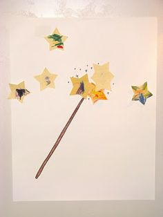 pin the star on the wand.