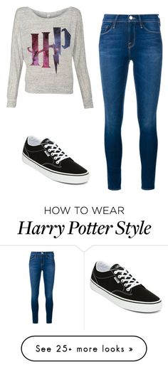 """Harry"" by yoli-potterhead on Polyvore featuring Frame Denim and Vans"