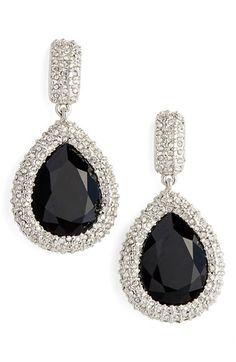 St. John Collection Swarovski Crystal Drop Earrings
