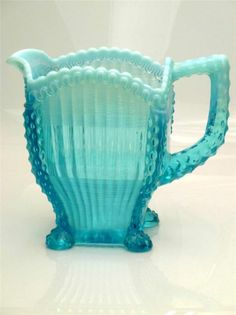 Northwood Large Alaska Blue Opalescent Water Pitcher