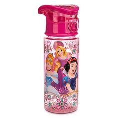 Disney Store Princess Plastic Drink Water Bottle 2015 -- Clicking on the VISIT button will lead you to find similar product