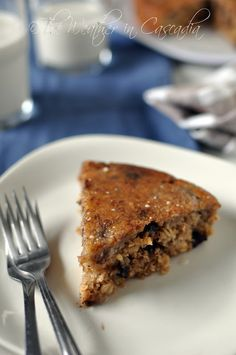 The Weather in Cascadia: banana oat cake, gluten-free & vegan