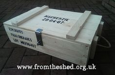 personalised ammo crate. Army / military wooden custom crate.