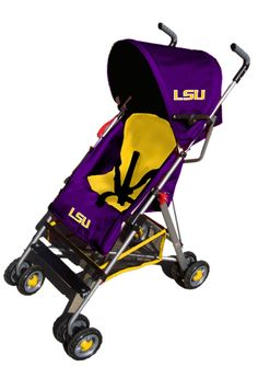 LSU Stroller.. Why didnt I know they made these?! My next baby will have one for sure!