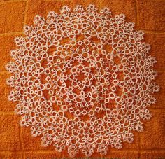 AngelSan Creation: Big tatted doily finished !!!