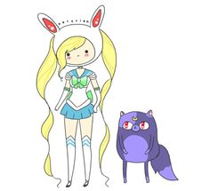 SAILOR FIONNA AND MOONCAKE.