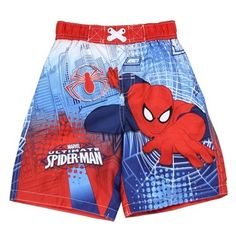 Ultimate Spider-Man Toddler Swim Trunks From Marvel Comics      Toddler Sizes 2T 3T 4T     Made From 100% Polyester     Label Marvel Comics     Officially Licensed By Marvel Comics Spider Man     Warehouse Location The Woodlands Texas     Shipping Charges Free Shipping     Ships In 1 Week