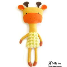Dolls And Daydreams / Giraffe Sewing Pattern