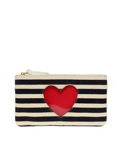 black and cream stripes with single red heart - card possibilities