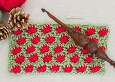 How To: Crochet The Strawberry Stitch - Easy Tutorial