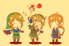 All the new Links. Hyrule Warriors, Smash Bros, and Zelda U