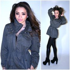 We love this star-studded army hoodie!! #fashion #trendy #arm #jacket #stars