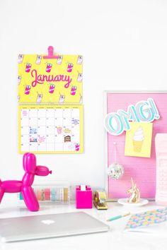 Free Printable 2017 Wall Calendar!!!!