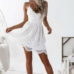 Free worldwide shipping. Easy return. #lacedress #bohodress #summerwear #backlessdress #womenwear #kneelength #dresses #womendress #fashion #slimfitdress #sexylook Bohemian Dresses, Boho Outfits, Boho Dress, Lace Dress, Short Outfits, Girls Party Dress, Girls Dresses, Boho Look, Boho Style