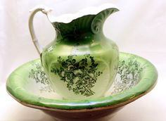 pitcher and basin set | ... had a removable bowl–very much an ancestor to our sink bowls today