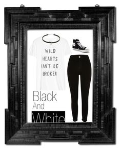 """""""Black and White"""" by little-miss-emo-girl ❤ liked on Polyvore featuring Zoe Karssen, River Island, Converse and monochrome"""