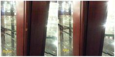 Repaired curio cabinet