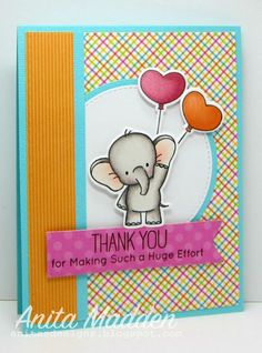 Adorable Elephant - Thank You