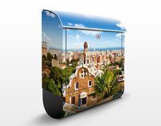#Briefkasten mit #Zeitungsfach - #Barcelona - #Wandbriefkasten #Spätsommer #goldener #Herbst #endlesssummer #Farbrausch #Farben #gelb #orange #braun #farbenfroh
