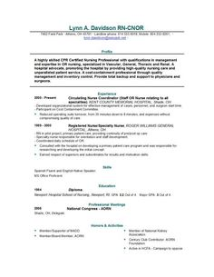 experienced nursing resume