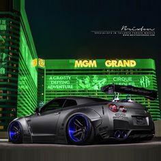 #Nissan GTR R35 in Las Vegas :@libertywalkkato with wide body kit design! #cars