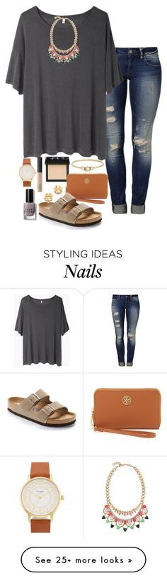 """gray"" by emilyw01 on Polyvore featuring NARS Cosmetics, Mavi, R13, Stella & Dot, Tory Burch, Birkenstock, Jennie Kwon, Kate Spade and Bobbi Brown Cosmetics"