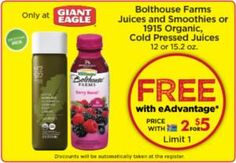 FREE Item at Giant Eagle on http://www.freebies20.com/
