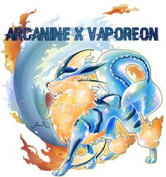 Arcanine X Vaporeon by Seoxys6 on DeviantArt