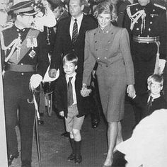 July 28 1988 Charles, Diana, William and Harry attend the matinee performance of the 1988 Royal Tournament at Earl's Court