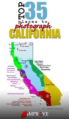 Top 35 Photography locations in California!