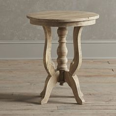New design high quality french country style solid oak wood round end table