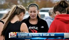 High School Runner Withdraws From Race After Being Assigned '666' Number Codie Thacker, a Whitley County High School junior cross country runner in Kentucky, says she'd been training for months for the race that might have qualified her for the state championship – but it was not to be. When her coach Gina Croley pulled the race numbers from the meet packet, Croley said she knew immediately there would be a problem.