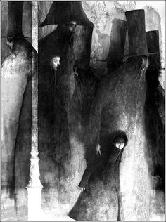 igrateney_ru: Гюго. Отверженные.  Art by Gabriel Pacheco, for Hugo's Les Miserables