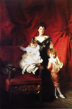 Portrait of Mrs Cazalet and Children, Edward and Victor by John Singer Sargent (American Famous Artists, Great Artists, Monet, Beaux Arts Paris, Sargent Art, Renoir, Oil Painting Reproductions, American Artists, Les Oeuvres