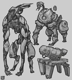 ArtStation - Weekly sketches week 25-Sci fi, Hue Teo