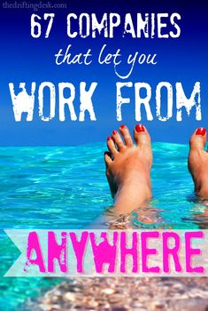 Imagine working for a company that has no dedicated office space. You can work form home with your kids or take a month to visit Europe, without taking any vacation time. This is a growing trend, and these 67 companies let you make money from home. Work From Home Jobs, Make Money From Home, Way To Make Money, Money Fast, Mad Money, Quick Money, Free Money, How To Make, Marketing Services