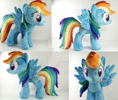 *****FOR SALE AGAIN: ***** I've been trying really hard to make this plushie as show accurate as possible. I made an entirely new mane and tail pattern, as well as a new head pattern, new eye desig...