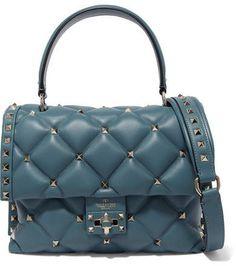 Valentino - Valentino Garavani Candystud quilted leather shoulder bag. Bőr  VálltáskaClutchAjándékötletek 936265fa71