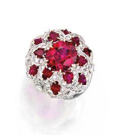 Platinum, Ruby and Diamond Ring, Van Cleef & Arpels