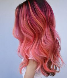 Pink flamingo hair new hair в 2019 г. hair color pink, hair и Hair Color Shades, Hair Color Pink, Hair Dye Colors, Cool Hair Color, Pink Peach Hair, Fire Hair Color, Pink Hair Tips, Bright Pink Hair, Vivid Hair Color