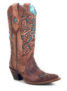 Corral boots with a kiss of turquoise ♡ Boots ♡