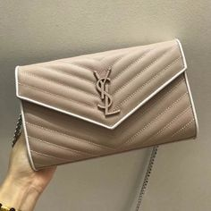Saint Laurent Monogram Chain Wallet in Bark Beige Textured Matelasse Leather  377828 2018     Real Purse aaeb9781312dc